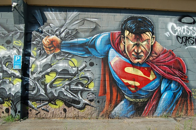 superman, grafitti